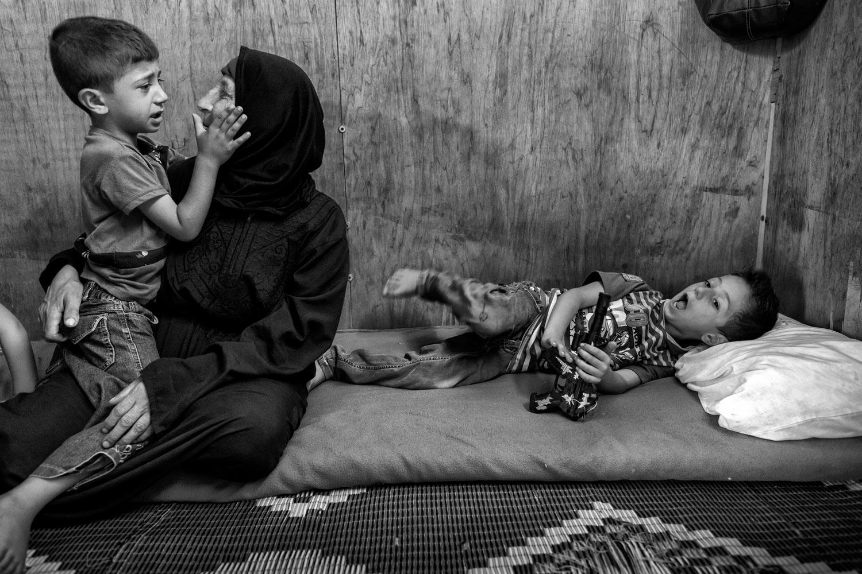 Syrisches Fluechtlingslager Mount Lebanon