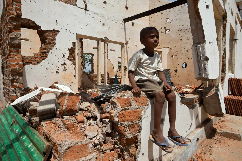 Buergerkriegsgebiet Sri Lanka